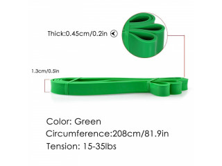 Resistance Band Heavy Duty Exercise Fitness Workout Band Green 50-125lbs