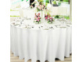 1-pc-260cm-white-round-fitted-table-cloth-hemmed-edges-trestle-event-wedding-small-2
