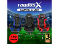 gaming-office-chairs-computer-seating-racing-with-back-massage-pointer-and-recliner-footrest-black-small-0