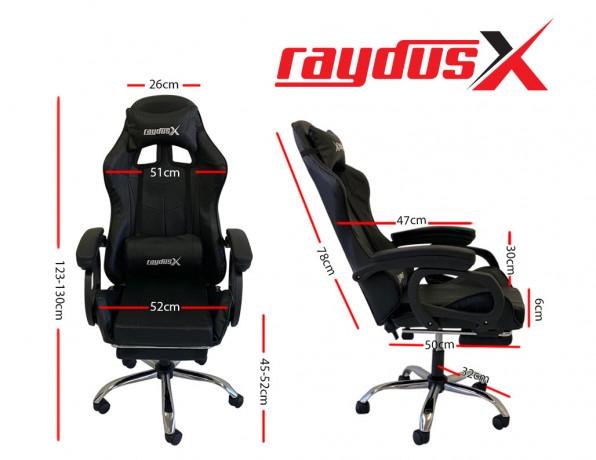 gaming-office-chairs-computer-seating-racing-with-back-massage-pointer-and-recliner-footrest-black-big-2