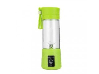 2 In 1 Portable Juice Blender Electrical USB Rechargeable Juicer Cup Juice Maker Green