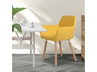 2x Dining Chairs Seat French Provincial Lounge Contemporary Chair Yellow
