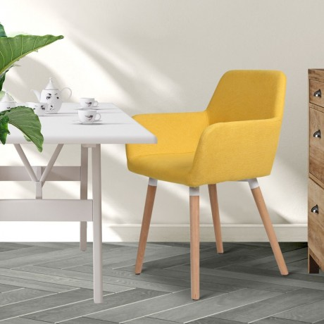 2x-dining-chairs-seat-french-provincial-lounge-contemporary-chair-yellow-big-0