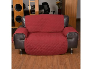 1 Seater Sofa Covers Quilted Couch Lounge Protectors Slipcovers Brown
